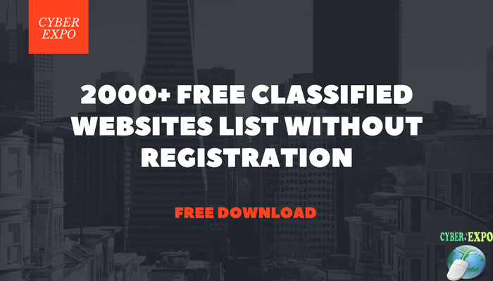 2000 Free Classified Websites List Without Registration [95%]