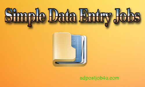 Simple data entry jobs