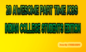 20 EASY Part Time Jobs For Indian College Students from Home