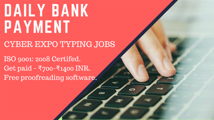 Online Typing jobs @Rs-1 Registration Fees 2 YEAR TRAIL Daily Payout