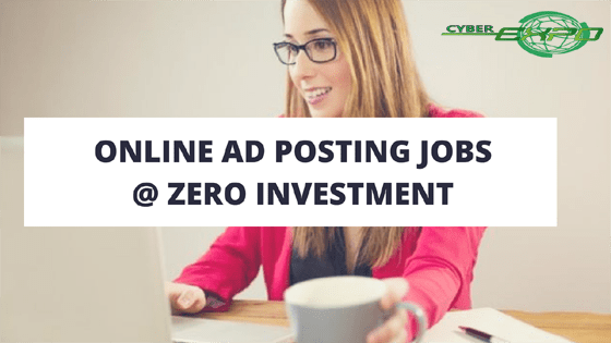 ad posting jobs without investment daily bank payment