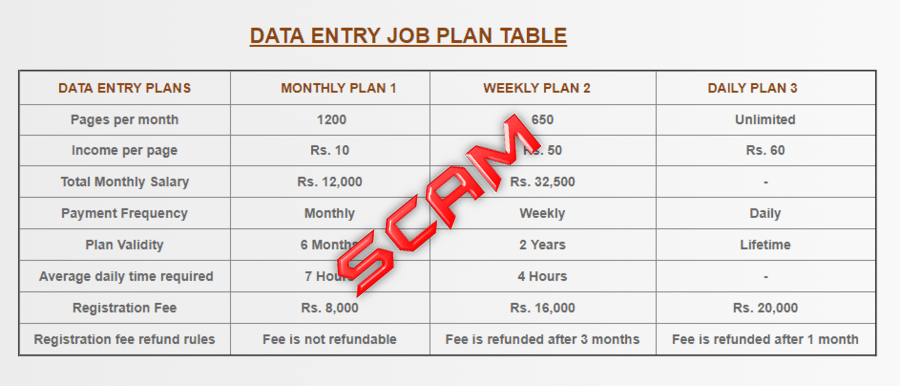 MCA Registration Data Entry Jobs Fraud in India